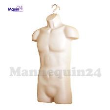 Male Mannequin Torso Flesh Hanging Dress Form