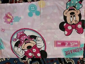 Peppa Pig and Minnie Mouse single Toddler Quilt covers and pillow slips