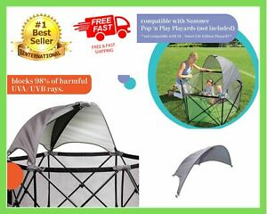 Pop N Play Summer Infant Portable Canopy Playard Kids Baby Child Outdoor Pen Sun