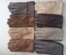 Winter Genuine Sheepskin Leather Gloves Fur Full Finger Mittens Outdoor for Men