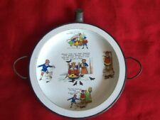 OLD VINTAGE CHILD'S BABY PLATE WARMER NURSERY RHYMES DESIGN THEME
