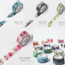 Floral Design 7M*15mm DIY Paper Sticky Adhesive Sticker Decorative Washi Tape