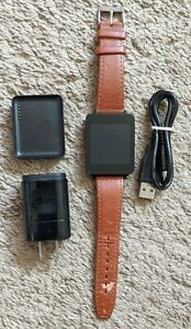 LG G Smart Watch (LG-W100) Black, Brown Leather wristband - Android Wear OS
