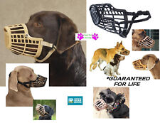 DOG NO BITE Quick Fit/Release AdjustableTraining Safety HEAVY DUTY BASKET MUZZLE