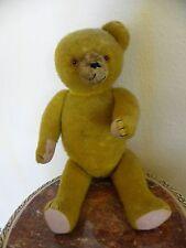 Sehr alter gelber Teddybär Teddy gelb mit original einem Ohr- selten -f. Sammler