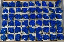 CHALCANTHITE wholesale flat 54pcs electric blue crystals on matrix FREE SHIPPING