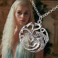 Game of Thrones Halskette Targaryen Drache silber Anhänger schmuck cosplay