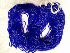 Vtg 3 HANKS MACO BEADS COBALT BLUE BEADS 1mm CZECH #062812i