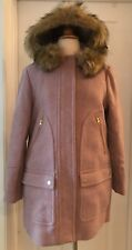 J.CREW PETITE CHATEAU PARKA IN ITALIAN STADIUM-CLOTH WOOL SIZE P12 COTTON CANDY
