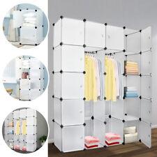 20-Cube DIY Plastic Wardrobe Cupboard Closet Cabinet Organizer Storage Furniture