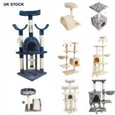 Cat Tree Condo Tower Large Deluxe Scratching Post Kitten Activity Center Bed NEW