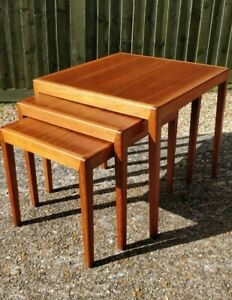 Mid-century danish teak nest of tables Severin Hansen Haslev style DELIVERY 🚚