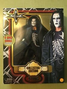 WCW Sting Collectors Edition 8 Inch Action Figure. In box, and SEALED. 1999 rare