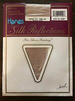 Hanes Silk Reflections Style 717 Silky Control Top Size AB Travel Buff Pantyhose