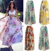 NEW Jersey Dress Summer Full Gypsy BOHO Skirt Maxi Floral Sun Long Beach Ladies