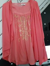 DAY BIRGER & MIKKELSEN Designer Tunika Farbe Koralle Viskose, Cotton Gr. 36/ 38