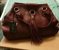 Patrick Cox designer large soft leather tassel detail handbag