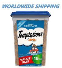 Temptations Classic Cat Treats Savory Salmon Flavor 16 Oz WORLDWIDE SHIPPING