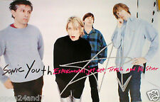 """SONIC YOUTH """"EXPERIMENTAL JET SET TRASH AND NO STAR"""" BAND SHOT U.S. PROMO POSTER"""