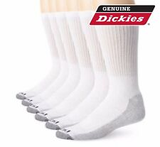 Dickies® 5 Pair Crew Work Socks Dri-Tech Mens 6-12 Extra Thick Reinforced White