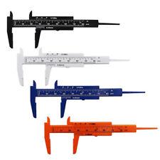 80mm Sliding Mini Plastic Vernier Calipers Micrometer Tool Gauge Ruler Measure