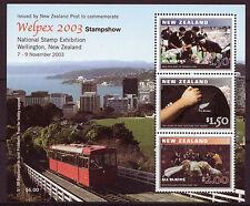 NOUVELLE-ZÉLANDE 2003 WELPEX STAMPSHOW BLOC-FEUILLET NON MONTÉS EXCELLENT ÉTAT