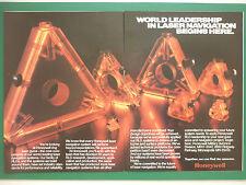 10/1986 PUB HONEYWELL MILITARY AVIONICS LASER NAVIGATION INERTIELLE ORIGINAL AD