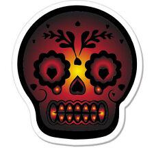 "Skull Red car bumper sticker decal 4"" x 4"""