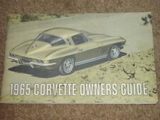 1965 Corvette Factory GM Owners Manual Second Edition Part # 3859589 W/ 1/2 Card