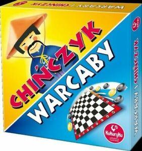 CHINCZYK Warcaby POLSKA GRA PLANSZOWA Kukuryku OD REKI UK zestaw gier