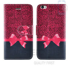 Flip Wallet Leather Cover Case for Apple iPhone Models Screen Protector Pink Ribbon I Phone 5 5s