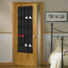 Taylor & Brown 20 Pocket Over The Door Hanging Shoe Rack - Black