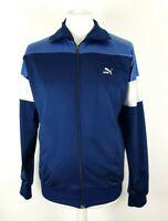 Vintage Puma Blue White Retro Track Jacket Size 5 UK M Casual