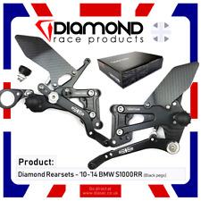 BMW S1000RR 2010-2014 10-14 REARSET FOOTREST KIT - DIAMOND RACE PRODUCTS blk/blk