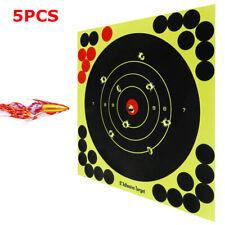 5pcs 8'' Shooting Targets Self Adhesive Super Splatter Gun Exercise Hunting Usa