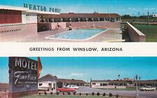 Route 66 Town House Motel Winslow Arizona Postcard 1950's