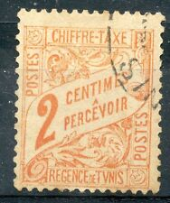 TIMBRE COLONIES FRANCAISES TUNISIE OBLITERE TAXE N° 34
