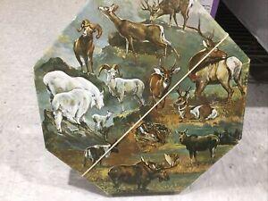 Vintage 1971 Springbok Okta-Puzzle N. American Hoofed Game Animals 500+ Pieces