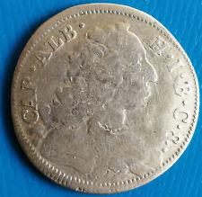 30 Kreuzer 1/2 Gulden 1733 Karl Albrecht Bayern Silber Münze sehr schön ++