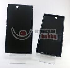 Funda Carcasa Lisa Gel TPU Sony Ericsson Xperia Z Ultra XL39h Negro NUEVO