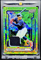 Francisco Lindor 2019 Panini National VIP Green Scope Patch 12/25 SSP Gold Party