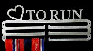 Medal Hanger Holder Display Rack Hook, LOVE TO RUN store 36 medals  STEEL