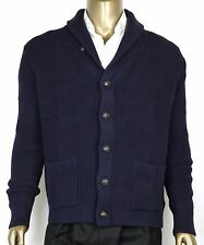 New Polo Ralph Lauren Men's Cotton Shawl Cardigan Sweater Navy, L, 0186171 WGB