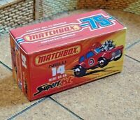 MATCHBOX SUPERFAST NO.14b, MINI HA-HA, CUSTOM REPLACEMENT DISPLAY/STORAGE BOX