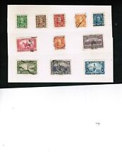 CANADA  1935 KING GEORGE V ISSUE see scan  cat #217-227 $25.00 USED LOT 751