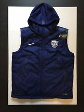 Nike USA Soccer Team Thermore Full Zip Down Vest Hoodie Storm-Fit Size XL