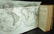 Corto de geografía moderno mapas-mundo 8 folios PINKERTON J 1805 mapas de