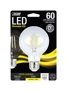 FEIT Electric 5 watts G25 LED Bulb 500 lumens Globe Soft White 60 Watt