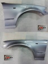 BMW E46 SALOON PAIR OF WINGS 2001-2005 PAINTED  SILVER GREY A08 SILBERGRAU NEW