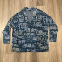 Pure J Jill Indigo Womens Small Blue One Snap Button Cardigan Sweater